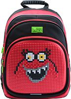 Школьный рюкзак 4ALL Kids / RK61-06N (черный/красный) -