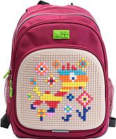 Школьный рюкзак 4ALL Kids / RK61-12N (малиновый/бежевый) -