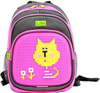 Школьный рюкзак 4ALL Kids / RK61-13N (серый/розовый) -