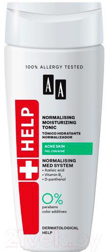 Купить Тоник для лица AA, Help Acne Skin нормализующий увлажняющий (200мл), Польша