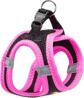 Шлея-жилетка для животных Ferplast Kaori P / 75469010 (XXXS, черный/розовый) -