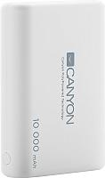 Портативное зарядное устройство Canyon CNS-CPBP10W (белый) -