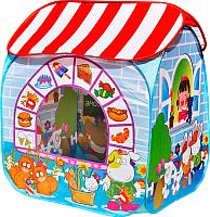 Детская игровая палатка Ching Ching Детский магазин CBH-32 (+ 100 шаров, синий) -