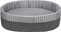 Лежанка для животных Trixie Finley 37415 (серый/белый) -