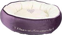 Лежанка для животных Trixie Pet's Home 37488 (фиолетовый/кремовый) -