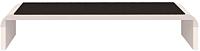 Надстройка на тумбу Ижмебель Танго 13 (белый матовый/черный матовый/белая глянцевая пленка) -