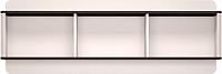 Шкаф навесной Ижмебель Танго 15 (белый матовый/черный матовый/белая глянцевая пленка с профилем) -