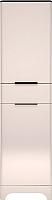 Шкаф-пенал Ижмебель Танго 17 (белый матовый/черный матовый/белая глянцевая пленка) -