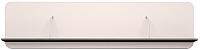 Полка Ижмебель Танго 18 (белый матовый/черный матовый/белая глянцевая пленка с профилем) -