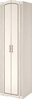 Шкаф Ижмебель Виктория 16 (белый глянец с порами/белая глянцевая пленка) -