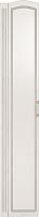 Шкаф-пенал Ижмебель Виктория 17 левый (белый глянец с порами/белая глянцевая пленка) -