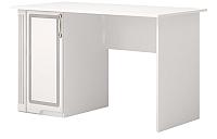 Письменный стол Ижмебель Виктория 34 (белый глянец/белая глянцевая пленка) -