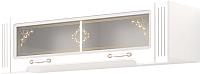 Шкаф навесной Ижмебель Виктория 36 (белый глянец с порами/белая глянцевая пленка) -