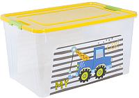 Контейнер для хранения Алеана Smart Box My Car 123098 (прозрачный/темно-желтый/оливковый) -