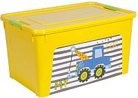 Контейнер для хранения Алеана Smart Box My Car 123098 (темно-желтый/оливковый) -