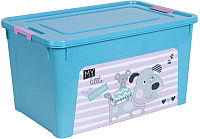 Контейнер для хранения Алеана Smart Box Pet Shop 124048 (бирюзовый/розовый) -