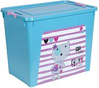 Контейнер для хранения Алеана Smart Box Pet Shop 124049 (бирюзовый/розовый) -