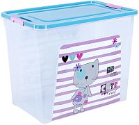 Контейнер для хранения Алеана Smart Box Pet Shop 124049 (прозрачный/бирюзовый) -