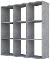 Стеллаж Polini Kids Home Smart Кубический 9 секций (бетон) -