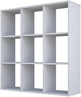 Стеллаж Polini Kids Home Smart Кубический 9 секций (белый) -