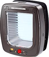 Электронная дверца для животных Ferplast Swing Microchip Large / 72093012 (коричневый) -