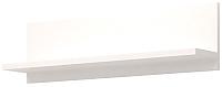 Полка Ижмебель Виктория 41 (белый глянец с порами/белая глянцевая пленка) -