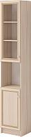 Шкаф-пенал с витриной Ижмебель Брайтон 3 левый (ясень асахи) -