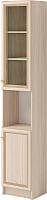 Шкаф-пенал с витриной Ижмебель Брайтон 4 правый (ясень асахи) -