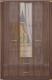 Шкаф Ижмебель Париж 1 с зеркалом (дезире темный/орех натуральный глянец) -
