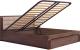 Двуспальная кровать Ижмебель Париж 5 с ПМ 160 (дезире темный/орех натуральный глянец) -