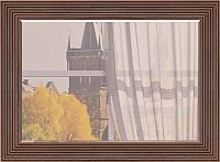 Зеркало интерьерное Ижмебель Париж 7 (дезире темный/орех натуральный глянец) -