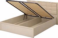 Двуспальная кровать Ижмебель Милан 8 с ПМ 160 (сахара/сахара накладной профиль) -