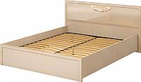Каркас кровати Ижмебель Милан 9 140 (сахара/сахара накладной профиль) -