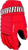 Перчатки хоккейные Warrior Alpha Qx3 / QX3GSR7-RDW13 (р.13, красный/черный/белый) -