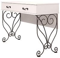 Туалетный столик Ижмебель Лукреция 6 (белый глянец с порами/белая глянцевая пленка) -