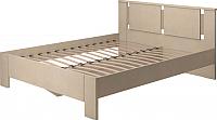 Двуспальная кровать Ижмебель Скандинавия-Люкс 2 с ПМ 160 (сахара) -