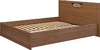 Каркас кровати Ижмебель Лондон 5 К-1 160 (клен торонто/накладной профиль глянцевый лак) -