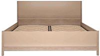 Двуспальная кровать Ижмебель Вива 5 с ПМ 160 (невис/капучино глянцевый/белая глянцевая пленка) -