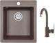 Мойка кухонная Granula GR-4201 + смеситель GR-3505 (эспрессо) -