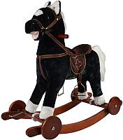 Качалка-каталка Pituso Fandango Лошадка / GS2033W (черный, с колесами) -