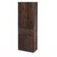Шкаф-пенал для ванной Аква Родос Акцент 60 / ОР0002356 (с корзиной, каштан) -