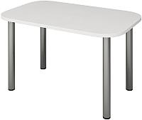 Обеденный стол Senira Р-001-02 (белый глянец/хром) -
