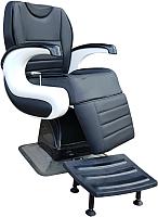 Кресло парикмахерское Kuasit Ku 470 (черный/белый) -