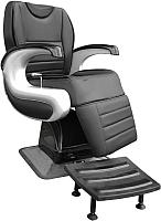 Кресло парикмахерское Kuasit Ku 470 (черный/серый) -