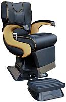 Кресло парикмахерское Kuasit Ku 450 (черный/золото) -