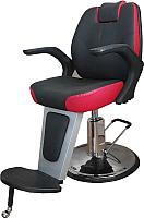 Кресло парикмахерское Kuasit Ku 060 (черно-красный) -