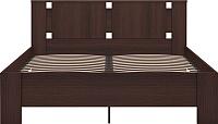 Двуспальная кровать Ижмебель Скандинавия 2 с ПМ 160 (дуб тортона) -