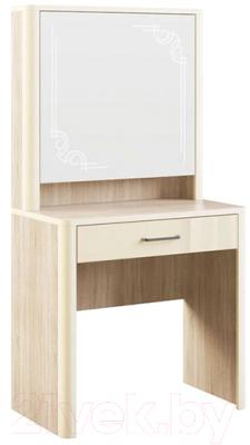 Туалетный столик с зеркалом МСТ. Мебель Оливия №7 (дуб сонома светлый)