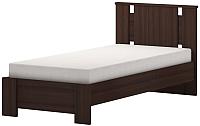 Односпальная кровать Ижмебель Скандинавия 10 с латами 91 (дуб тортона) -