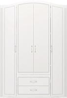 Шкаф Ижмебель Виктория 2 (белый глянец с порами/белая глянцевая пленка) -